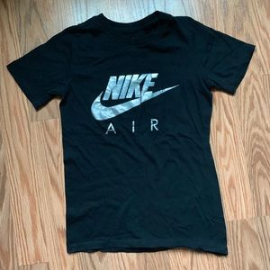 Nike air holographic black fitted tee